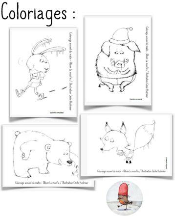 La moufle _ personnages à colorier