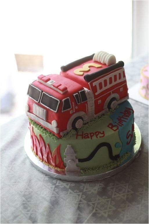 Firetruck cake- love this!