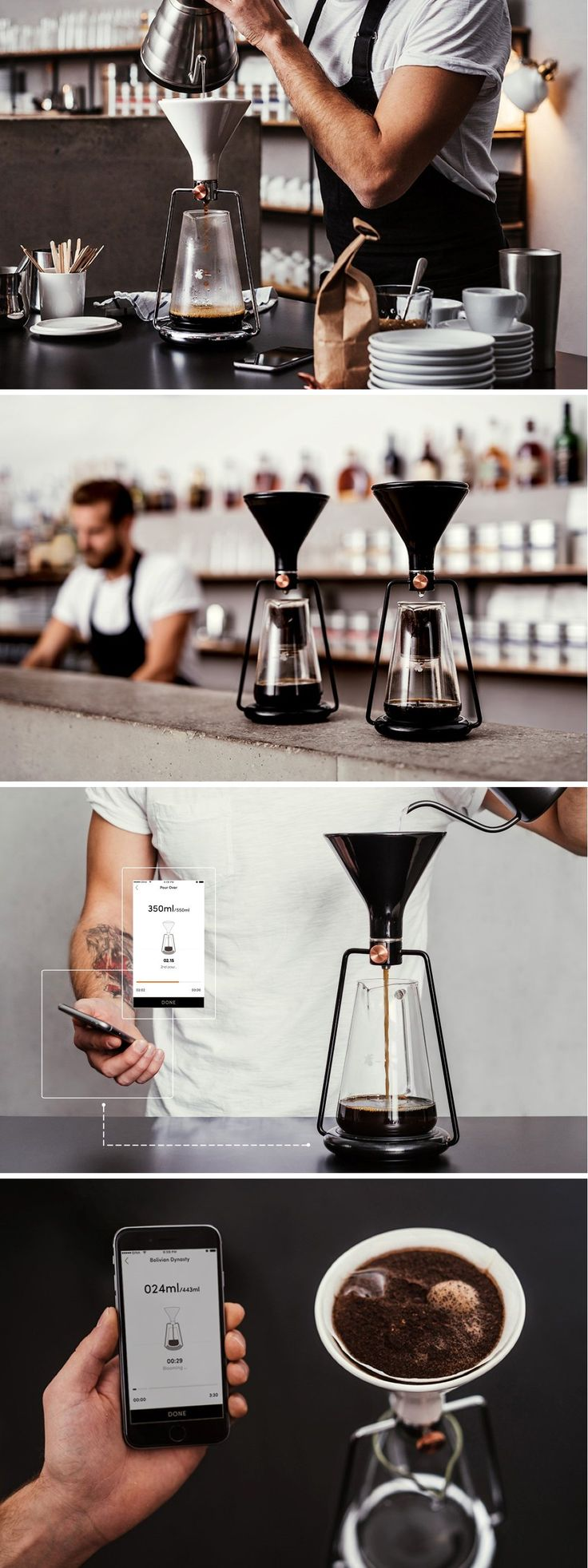 Desperately in love with the GINA smart coffee brewer, a Kickstarter campaign worth supporting if you're a coffee lover!
