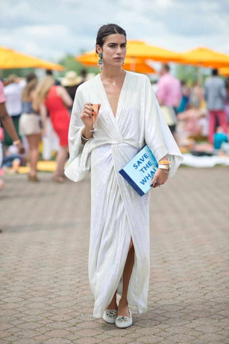 Street Style Veuve Clicquot Polo Classic - Summer Street Style Photos Veuve Clicquot Polo Match - Elle