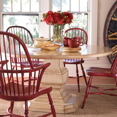 Coastal Cottage Style Furniture Dining Tables