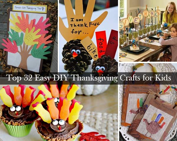 Top 32 Easy Diy Thanksgiving Crafts Kids Can Make Trees