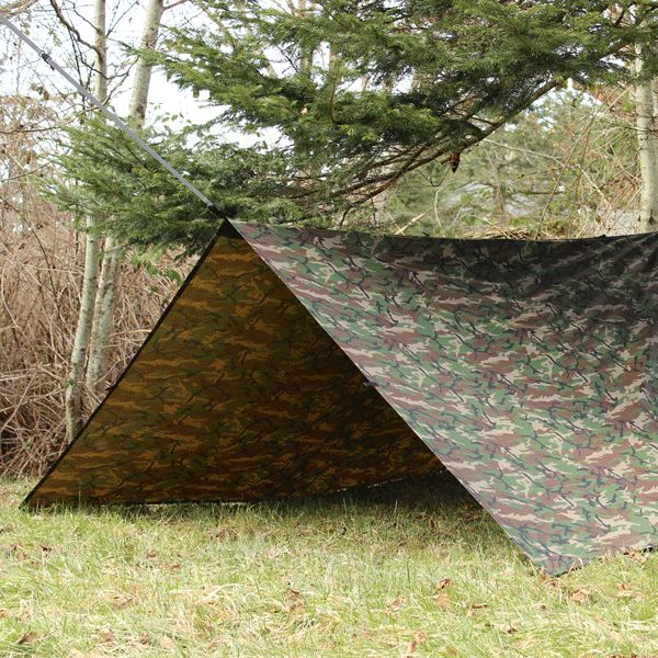 Excellent craftsmanship, coated 70-D RipStop Nylon, and an awesome design with 18 reinforced webbing loops and ridge line tie points for just about any setup option that your brain can scheme up. if you need a quick shelter in a time of need, you have it.