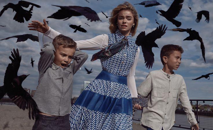The Birds - an exclusive for The Impression Magazine - Photographer Francisco Gomez de Villaboa, Art Director Bénédicte Arora and Stylist Celia Arias' ode to The Birds