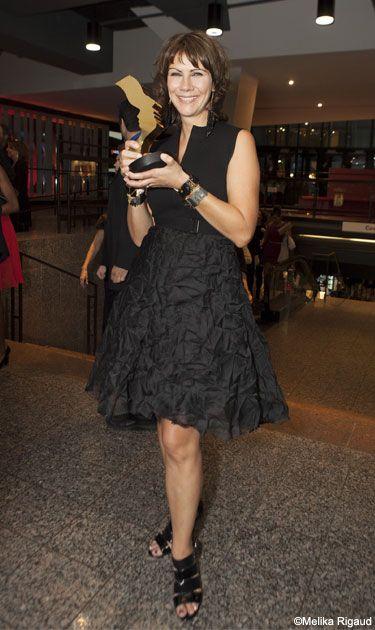 Geneviève Brouillette | Robe Marie Saint Pierre, accessoires Anne-Marie Chagnon | Prix Gémeaux 2013 #modeMtl