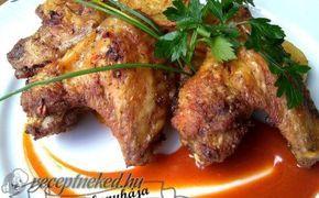 Tepsis csirke szárnyak recept fotóval