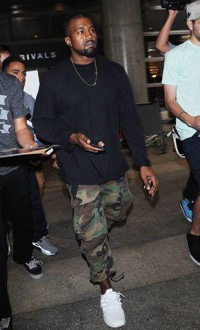 Sneaker Branco, Tênis Branco Masculino, Macho Moda - Blog de Moda Masculina: Roupa de Homem: 5 Tendências Masculinas que continuam para 2017. Adidas NMD, Calça Camuflada, Kanye West.