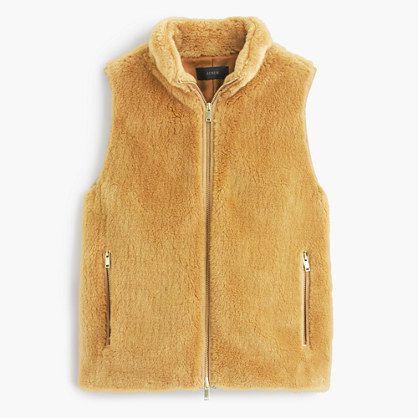 Plush fleece excursion vest