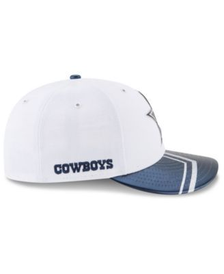 New Era Dallas Cowboys 2017 Low Profile Draft 59FIFTY Cap - White/Navy 7 1/2
