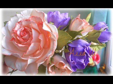 Цветы из фоамирана, мастер класс, простой способ создания украшения для волос…