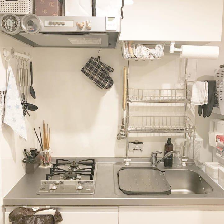 一人暮らしの狭いキッチンでも諦めない おしゃれアイデア 整理整頓術