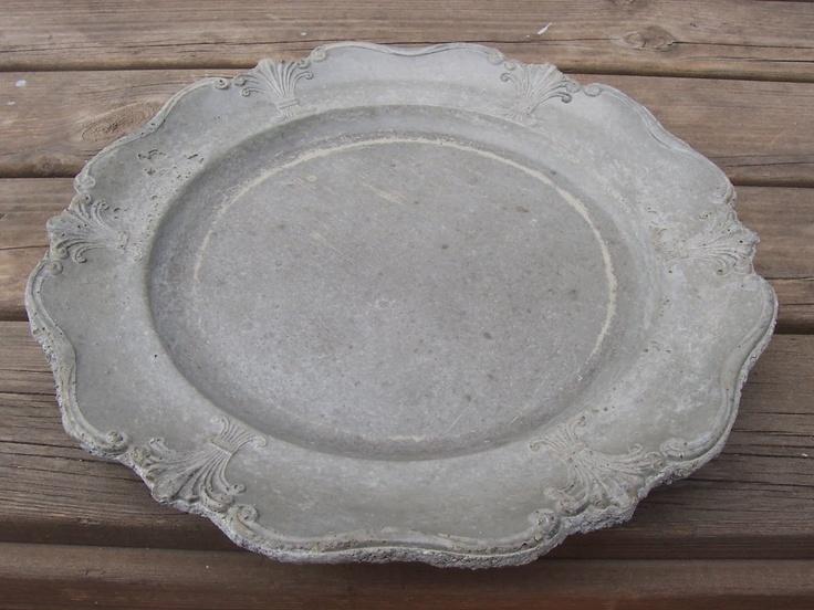 Concrete 'silver' plate Silverfat | Betonnen 'zilveren' schaal / dienblad