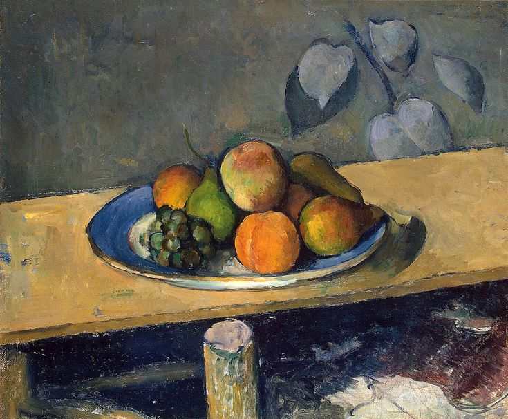 Paul Cézanne (1839-1906) Apples, Peaches, Pears and Grapes, c. 1879/1880. Oil on canvas. 38,5 x 46,5 cm. The State Hermitage Museum, Saint Petersburg.