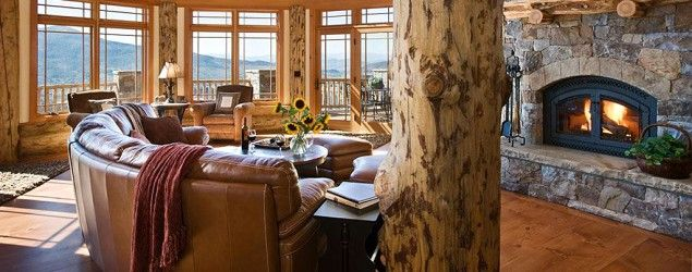Dream log cabin home in the Rockies. (Zillow)