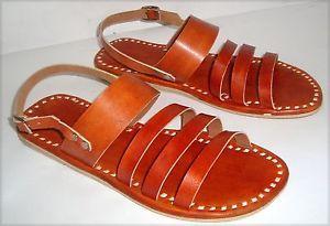 Cuero-Tostado-Zapatillas-Sandalia-Zapato-De-Cuero-Zapatos-en-linea-indio-Sandalia-Zapatos-sin-Taco
