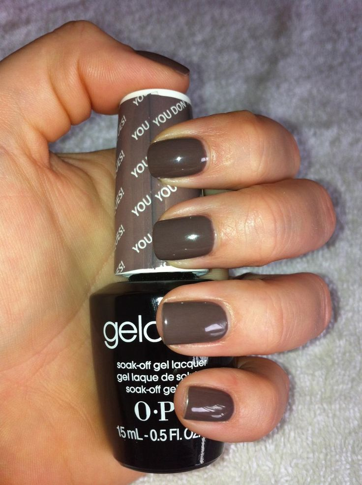 One of my fave colors...LOVE my 2 week gel manicures! opi gel You don't know Jacques
