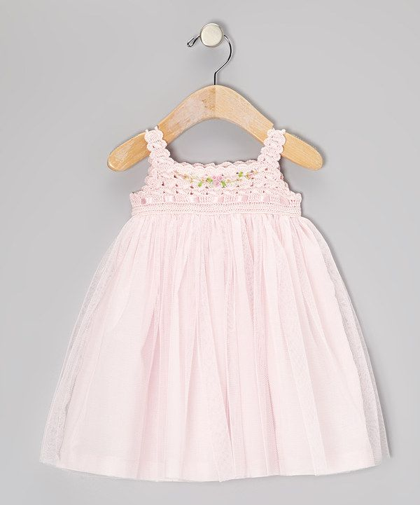 Take a look at this Pink Crocheted Tulle Dress - Infant, Toddler & Girls on zulily today!