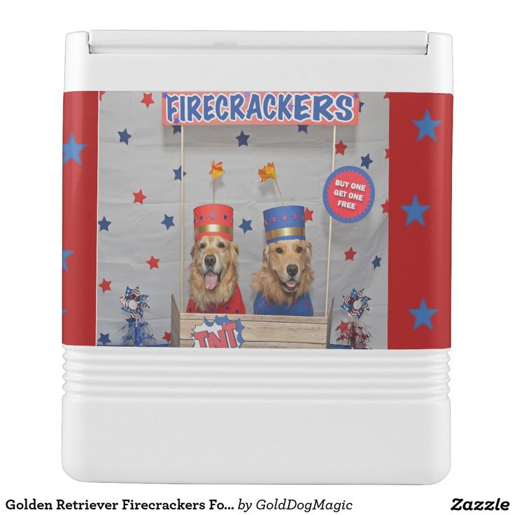 Golden Retriever Firecrackers For Sale Igloo Drink Cooler