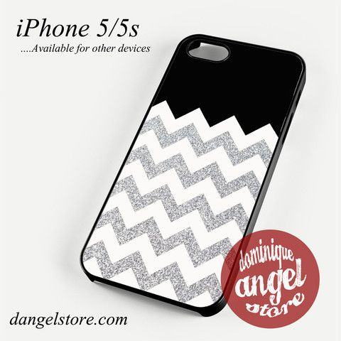 Cool Silver Glitter Chevron Phone case for iPhone 4/4s/5/5c/5s/6/6 plus