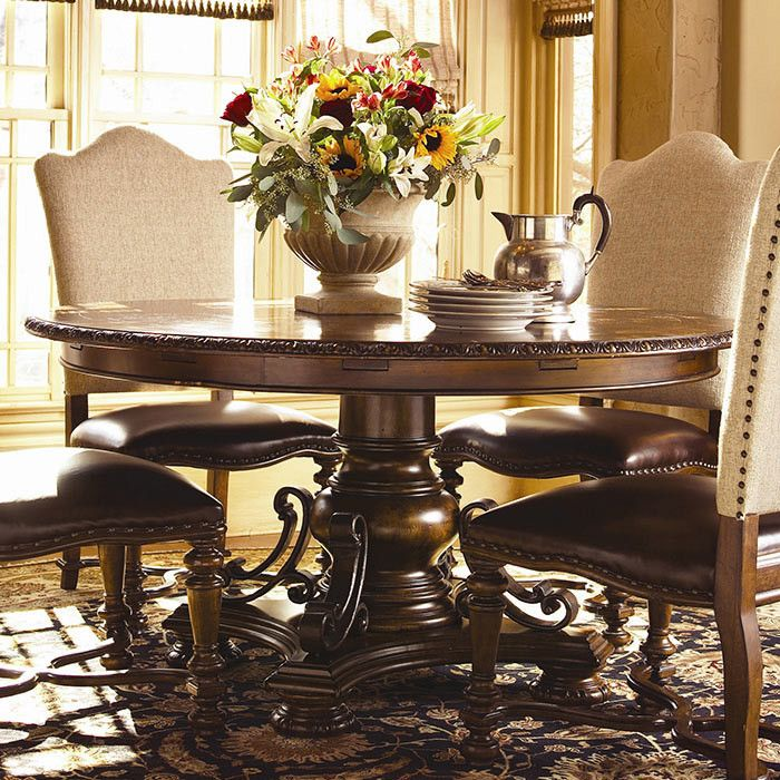 Bolero Seville Round Dining Table In Old World