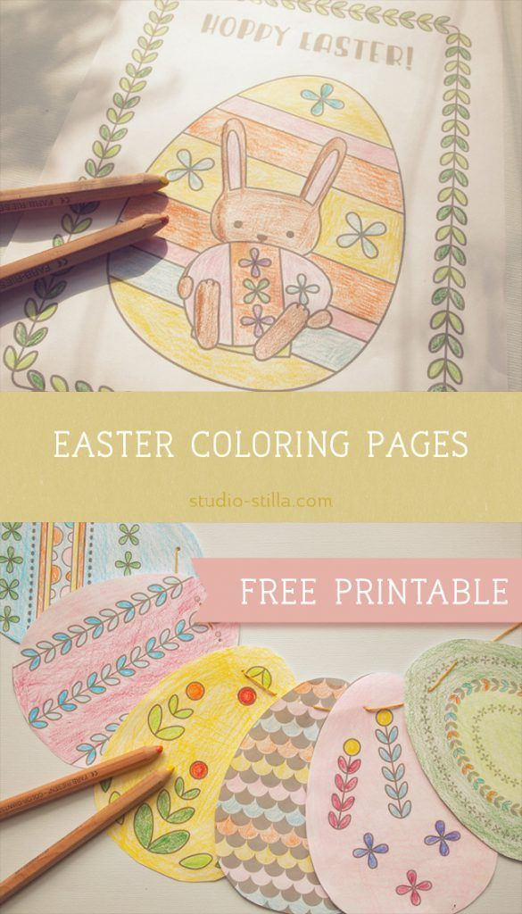 Printable Easter Bunny Coloring Pages More Crafts Ideas