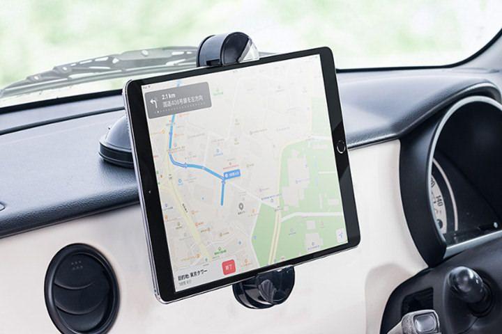 吸盤でくっつく車載ホルダー 200 Car053 スマホやタブレットをカーナビに インターネットコム タブレットホルダー 車載 タブレット