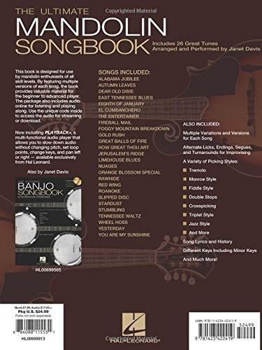 The Ultimate Mandolin Songbook: 26 Favorite Songs Arranged by Janet Davis (Book & Online Audio)