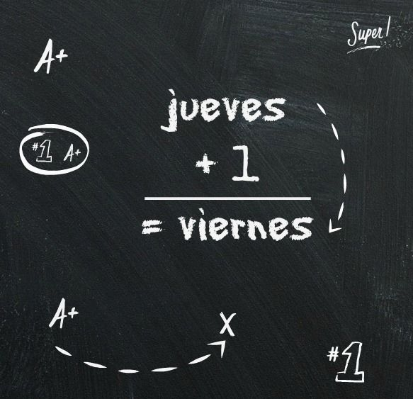 Jueves: puras matemáticas...