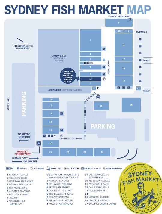 Sydney Fish Market Map
