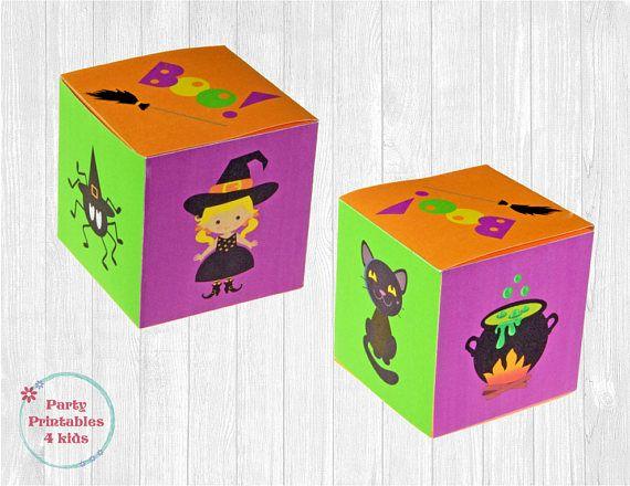 Witches Favor Box Treat Box DIY Gift Box Printable PDF