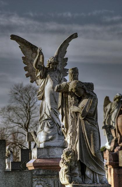 Engelen op de Nottingham Begraafplaats