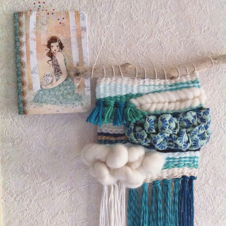 Inspiration of minasmoke's drawing .. Peacock blue, mint and creamy white. Japanese fabric.