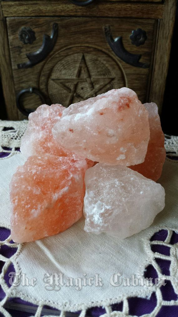 Pink Witches Salt for Love Wishes and Clearing, Pink Himalayan Salt, Salt Crystals, Pink Halite, Witchcraft Supplies, Wicca Supply,Rock Salt
