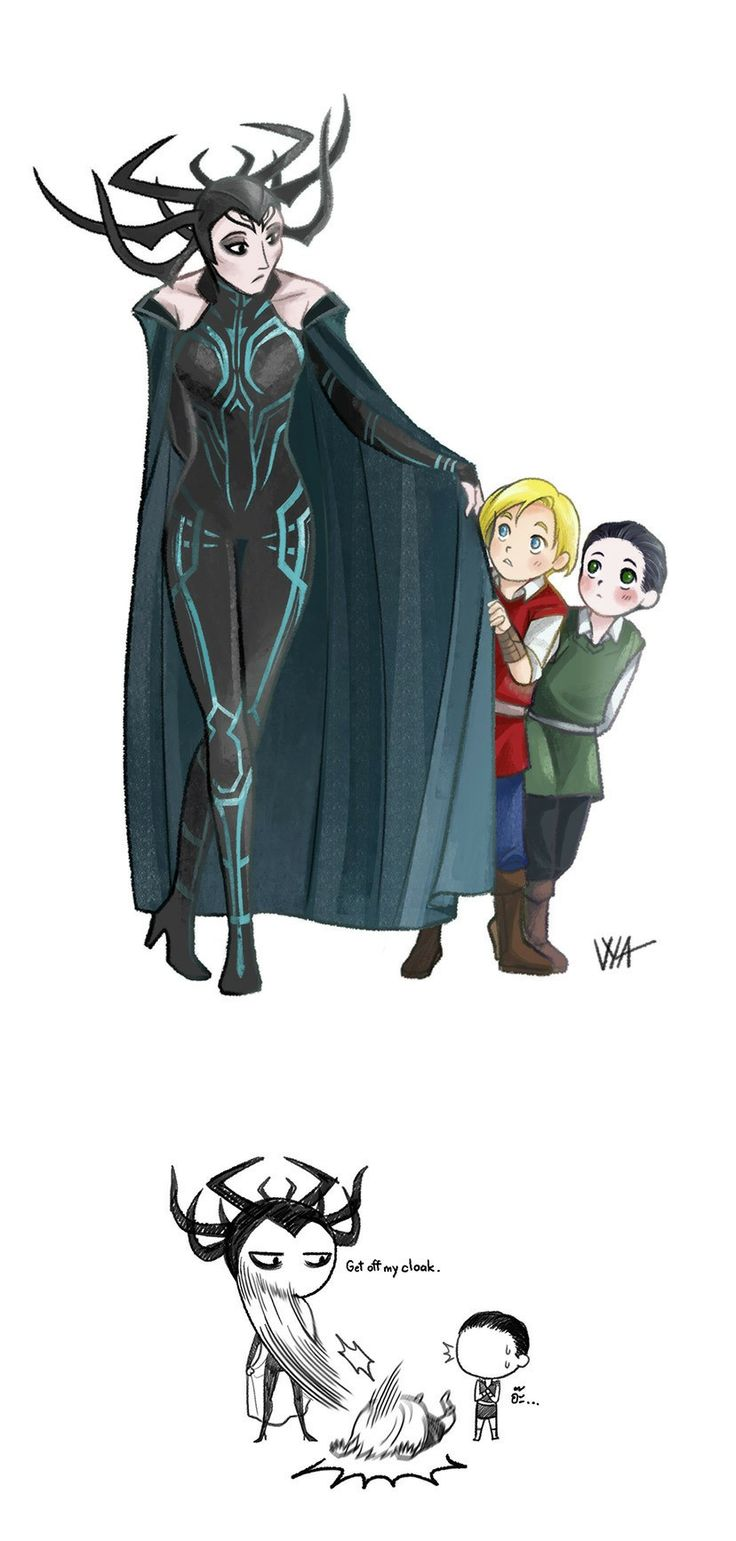 If hela was around during loki and thors childhood this is what would happen.