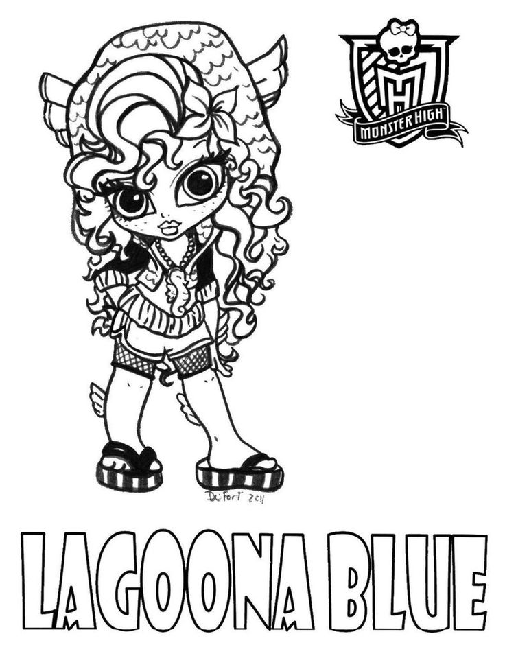 monster high chibi printable coloring pages see more baby lagoona printable coloring sheet from jadedragonne at deviant art