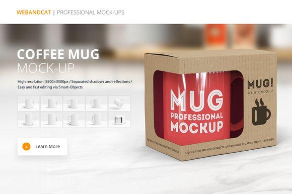 Coffee Mug Mockup by WebAndCat on @creativemarket
