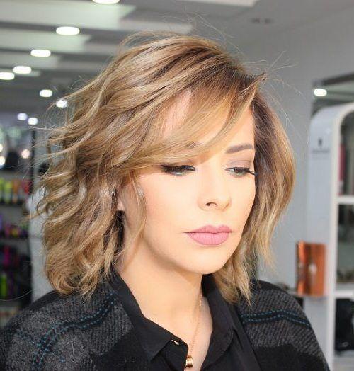 Cute Medium Length Haircuts With Layers And Side Bangs Haircut