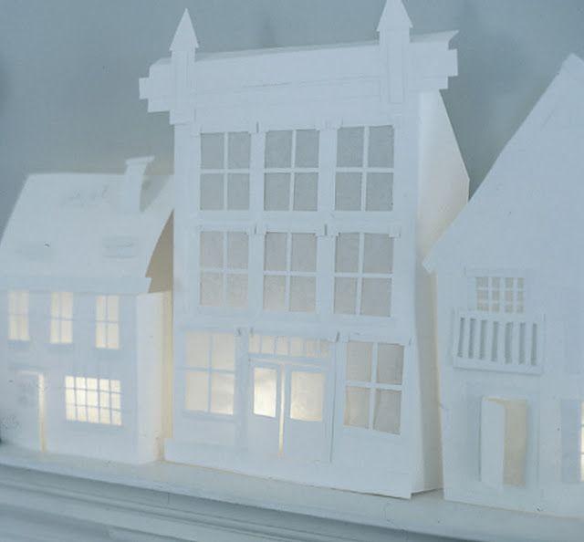 diy paper houses / link to downloads. Via cherry blossom world.