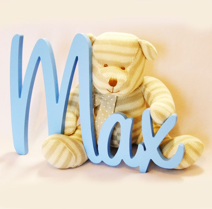 Painted Wooden Name - Light Blue.