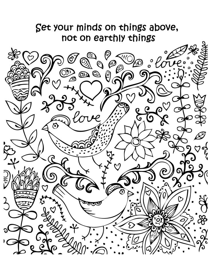 inspirational blessings bible adult coloring pages calm and faith quotes for inspiration - Relaxing Coloring Pages