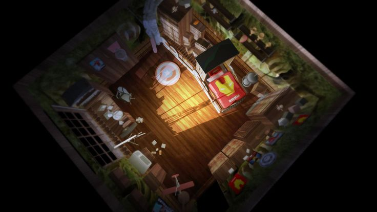 Yionguon's 3D works - Kid's room. top view.