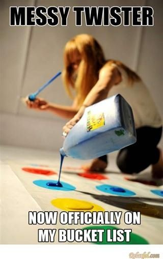 Twister with paint. Now on bucket list.