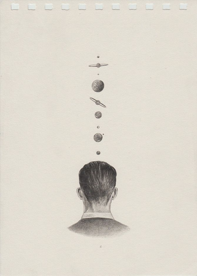 Dreamy anatomical graphite drawings by Juan Osorno