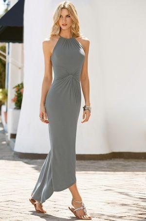 Mid knot maxi dress