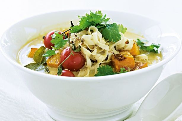 Feel like a taste of Asia tonight? Try this pumpkin laksa - it's filling, fast and fabulous!