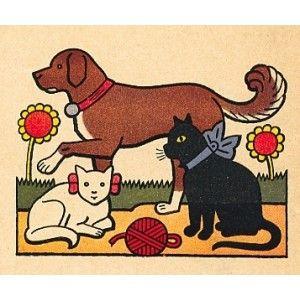 Abecede, kočka přede, kocour motá, pes počítá... (Moje abeceda), 1923 | bar. litografie, 10×12