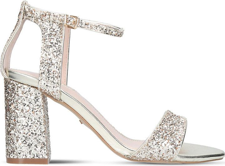 Carvela Gigi glitter heeled sandals