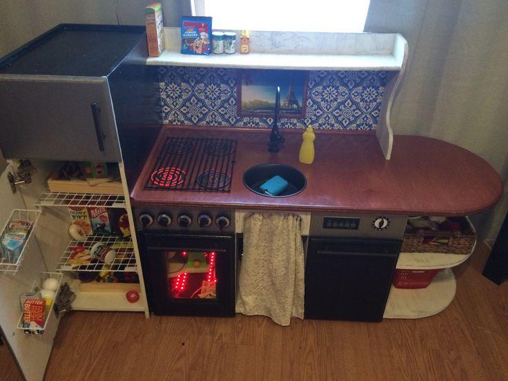 Epic DIY Play Kitchen Madison 39 S Vintage Avenue Pinterest DIY And Cr