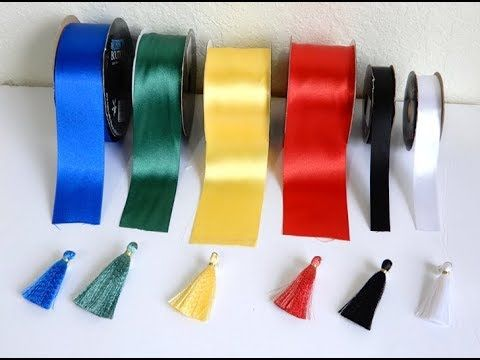 DIY/SATIN RIBBON TASSELS /COMO HACER BORLAS CON CINTA – YouTube