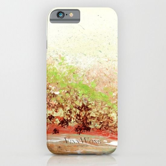 Pink and green floral abstract phone case design for iPhone 6, iPhone 5S/C, iPod Touch, Galaxy s6/s5/s4 | International Shipping | Full collection www.vinnwong.com | Click to Shop or Pin it For Later!